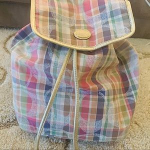 Coach multi color backpack